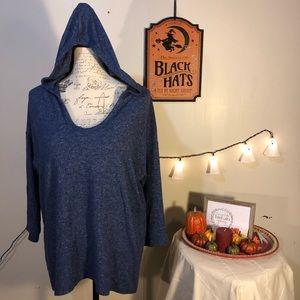 Blue Bobeau lightweight hoodie Sz M